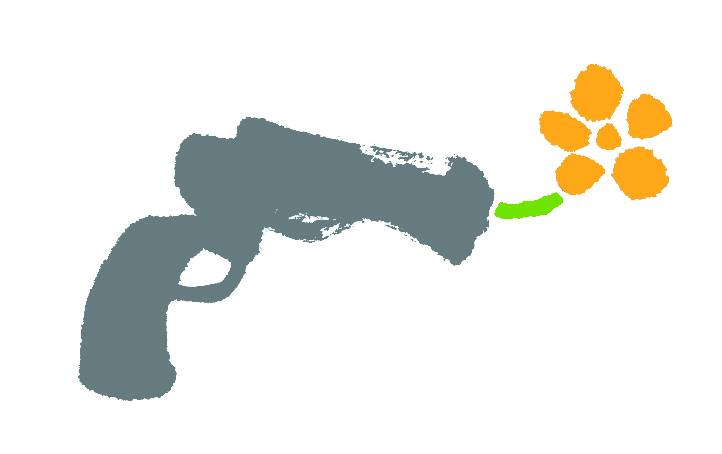 World Without War logo - a gun with a flower in it